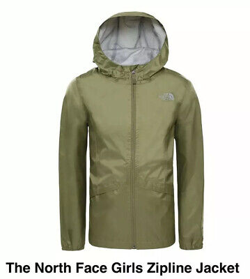 NWT THE NORTH FACE Older Girls Zipline Jacket Green XL (13-14