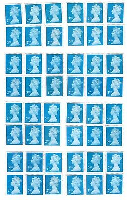 50 2nd Class blue  Unfranked GB Stamps (Peelable)1