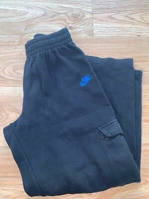 Nike Jogging Bottoms Tracksuit Bottoms Joggers in Black Sz Large Boys Age 14 yrs