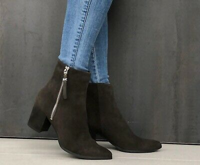 Brand New Michael Kors Grey Suede Ankle Boots Size 6 Cost £195
