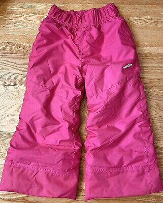 Wed'ze Girls Ski Pants Trousers Age 4 98-104cm Great Condition Worn For A Week