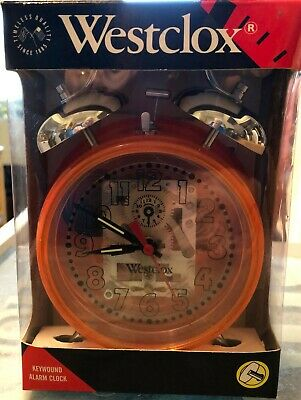 Vintage Retro Westclox Wind Up Jelly Double Bell Alarm Clock New In Box