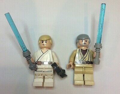 Lego Star Wars Minifigures- Luke Skywalker & Obi Wan Kenobi