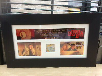 James Bond prop map piece mounted and framed From Russia With Love Connery