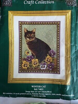 ` Winter Cat`tapestry From `The Craft Collection`