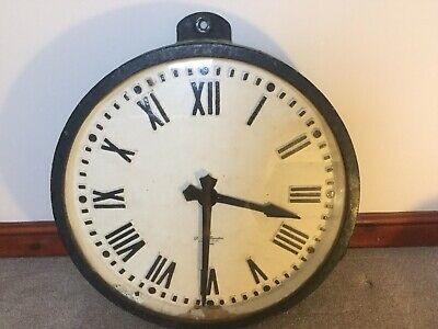 Large Cast Iron Gents Of Leicester Industrial Factory Slave Clock
