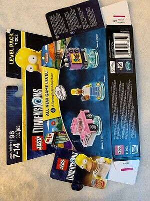 LEGO DIMENSIONS PACK #71202 Homer Simpson - A Springfield Adventure BOX ONLY
