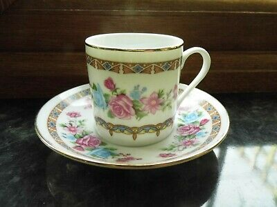 CHINESE  COFFEE CUP AND SAUCER in a pretty Rose design