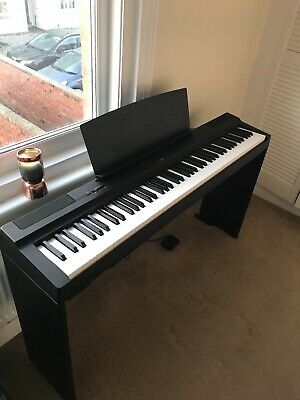 Yamaha P-125 + YAMAHA STAND and SUSTAIN PEDAL + USER MANUALS/GUIDES