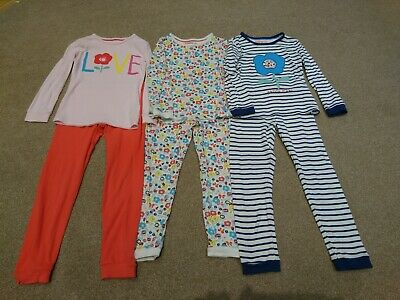Age 6-7 Marks And Spencer M&S Girls Pyjamas Bundle PJs Sleep Wear