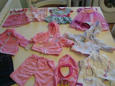 Zapf Creation Baby Born  Outfits In Vgc  Condition** No Doll Fresh And Clean
