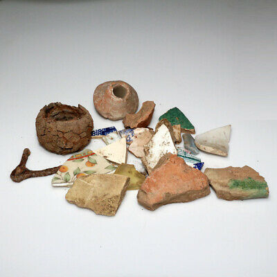 Lot Of Ancient To 18 Century Iron-Ceramic And Terracotta Items