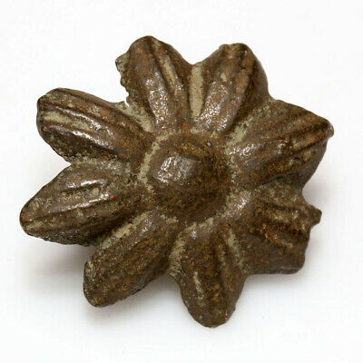 Nice Byzantine Bronze Floral Nail Ornament Circa 1200-1400 Ad