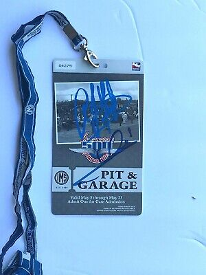 Mario Andretti + A J Foyt Hand Signed,2009 Indy 500 Pit And Garage Credential,