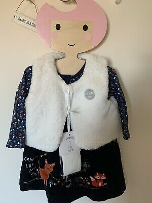 Brand New With Tags Four Piece Girls Outfit Age 6-9 Months