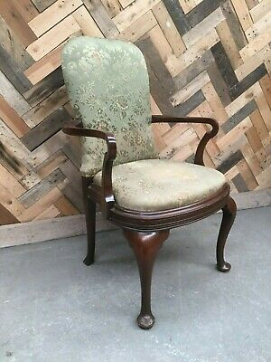 Victorian green upholstered nursing chair