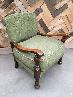 Vintage Green upholstered low nursing chair