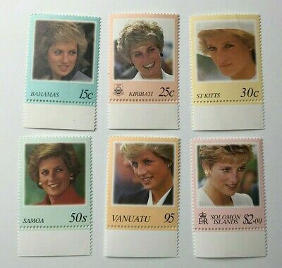 Job Lot of - Mixed World - Royalty - Diana - Old Postage Stamps - Off Paper