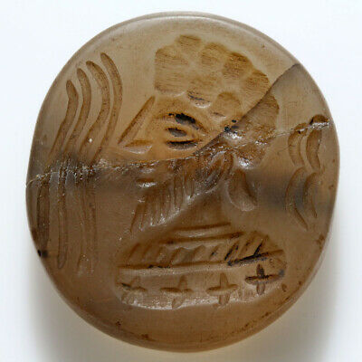 Nice Ancient Indo Greek Stone Bead Seal Circa 100 Bc