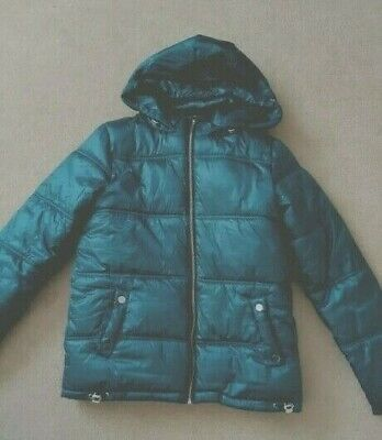 Girls Next Winter Coat Jacket Age 15 Puffa Ladies Size 8-10 Fur Lined Ex Cond