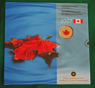 2007 Canada Uncirculated Oh Canada 7 coin set with red maple leaf quarter