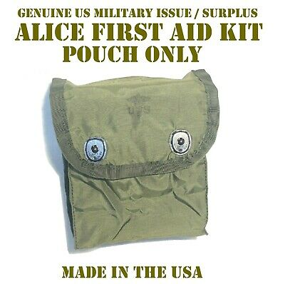 US MILITARY INDIVIDUAL FIRST AID KIT POUCH IFAK w/ SNAP FLAP & ALICE CLIPS NEW