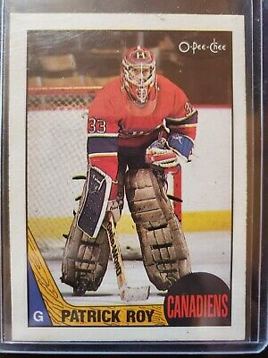 1987-88 Opc Patrick Roy #163 Montreal Canadiens O-Pee-Chee Hockey Card