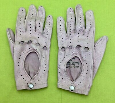 FOWNES Genuine Deerskin Women's Pink Golfing Gloves Lastic Leather Size Small