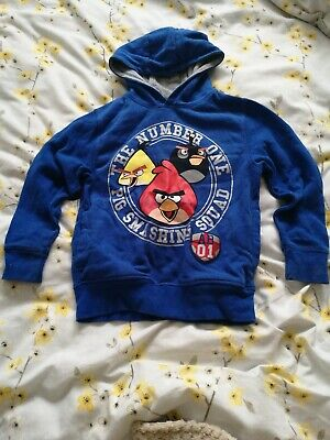 Next Boys Angry Birds Blue Hoody Jumper age 7 years