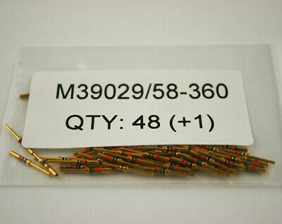 Lot of 48, M39029/58-360, 22-28 AWG, DSUB, GOLD, Mil-spec aerospace