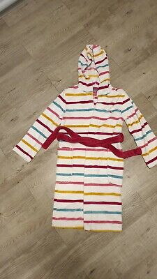 Joules Girls Stripy Dressing Gown Age 11-12 Years