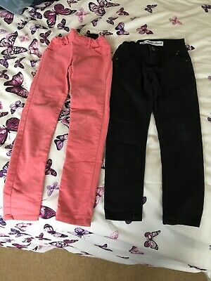 Two Pairs Of Girls Skinny Jeans Age 7-8