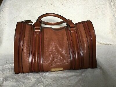 Burberry Alchester Bowling Bag Tan/Brown Leather