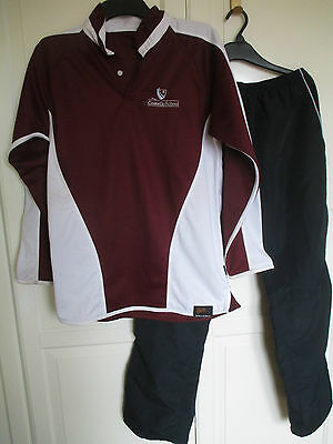 Basingstoke The Costello School Rugby Shirt 38/40ins Sports Trousers Medium VGC