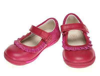 Girls Clarks First Berry Leather Shoes Softly Stef FST  5F /  EU 21M
