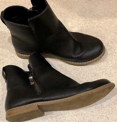 GAP Ladies Girls Black Leather Ankle Boots size UK 3 EUR 34 SUPERB CONDITION