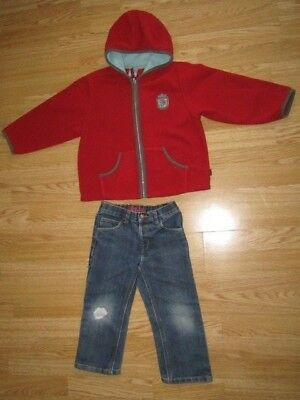 Bundle of 2 Boys Clothes: Fleece and Jeans, Age 3-4 years; Pumpkin Patch, George