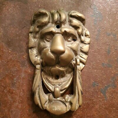 Cast metal HEAVY LION HEAD Door Knocker VINTAGE