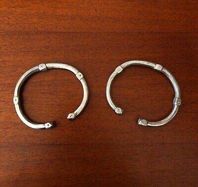 A Fine Pair of Ancient Roman Solid Silver Bracelets 2nd-3rd Century AD