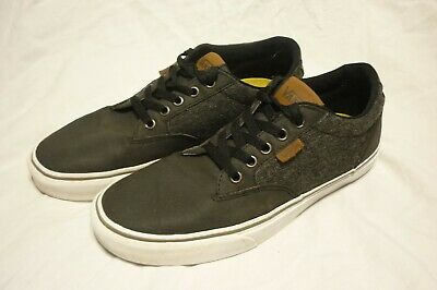 VANS MEN OFF the Wall Skate Shoe Sneaker Low Cut Lace Dark