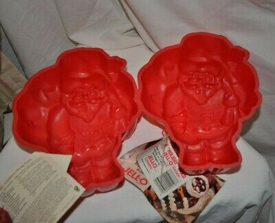 CHRISTMAS HOLIDAY SANTA CLAUS JELLO MOLDS - TWO - New with Tags