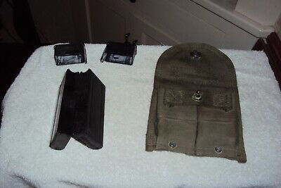 2 M1 Carbine Magazines (2) With Pouch And Covers-10Rd Blocked