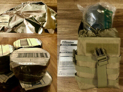 NEW US MSA Millennium Series CBRN Full Face Mask (Complete) w/DropLeg Size M