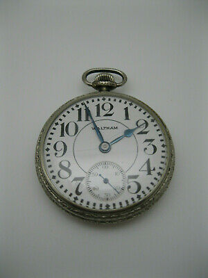 Nice Old Waltham 17 Jewels 16s Railroad Style Pocket Watch Model 1899
