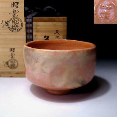 TO13: Japanese Tea Bowl, Raku Ware by 1st Class Potter, Shoraku Sasaki