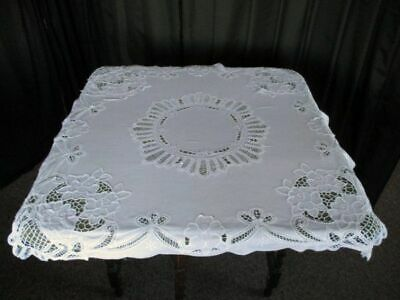 PRETTY TABLECLOTH with EMBROIDERY & TAPE LACE DECORATION