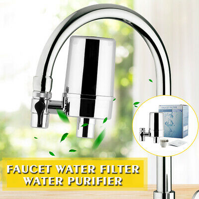 Faucet Water Filter For Kitchen Sink Or Bathroom Mount Tap Purifier 4 Layers