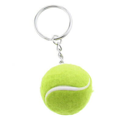 Simple Tennis Ball Pendant Alloy Key Chain Ring Collectable Novelty Green