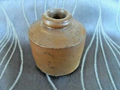 Antique Pottery Stoneware Ink Well