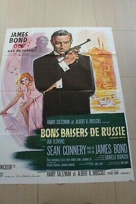 James BOND 007  FROM RUSSIA WITH LOVE  Sean CONNERY  Ian FLEMING  French Poster